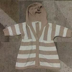 Aeropostale Tan and Cream Sweater Large